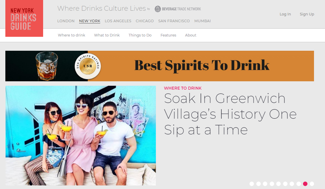 New York Drinks Guide Homepage