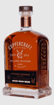 Coppercraft Distillery Straight Bourbon Whiskey Spirit of the Year