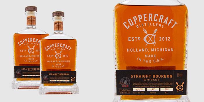 Spirit of the Year Coppercraft Distillery Straight Bourbon Whiskey from Coppercraft Distillery
